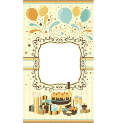 Celebration card template vector