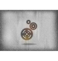 Cogwheels vector image vector image