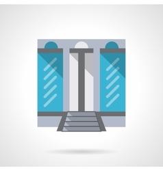 Fashion store flat color design icon vector image vector image