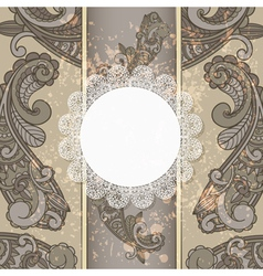 menu with paisley pattern vector image