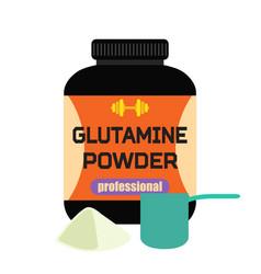 sports nutrition glutamine powder professional vector image vector image