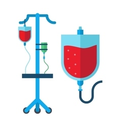 Blood transfusion vector image