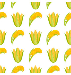 corn begetable cobs seamless vector image