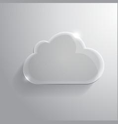 Glossy cloud vector
