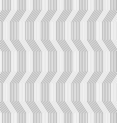 Gray ornament with warping stripes slim vector image