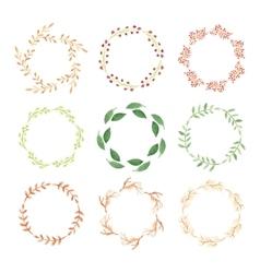 Watercolor wreaths vector image