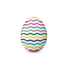 colorful easter egg isolated on the white vector image