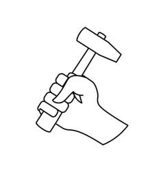 hammer construction tool equipment vector image vector image