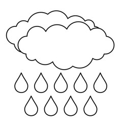rain icon outline style vector image