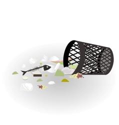 Garbage basket vector image