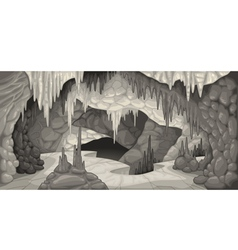 Inside the cavern vector image