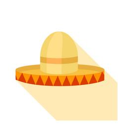 sombrero hat icon flat style vector image