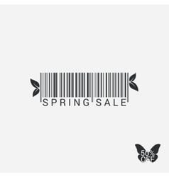 Spring Sale Bar code Design Background vector image vector image