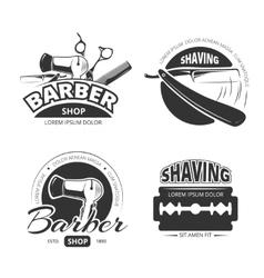 Vintage barber shop logo labels and badges vector image vector image