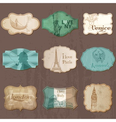 Vintage Design City Elements for Scrapbook vector image