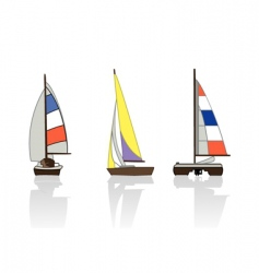yachts vector image vector image