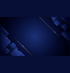 abstract 3d geometric square luxury background vector image