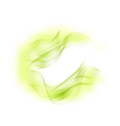 abstract background green flow waved lines vector image