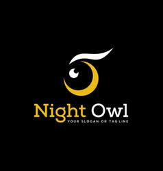 Abstract logo owl nigh vector