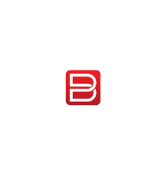 b initial brand company logo vector image