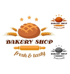 Bakery Shop label or badge vector image vector image