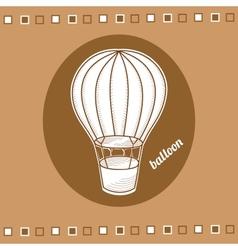 Balloon with a basket vector image