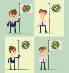 ban of money set flat vector image