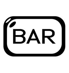 Bar board icon simple black style vector