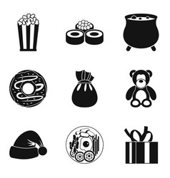 Benevolence icons set simple style vector