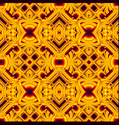 black and yellow seamless pattern vector image