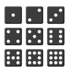 Black Dice Set on White Background vector