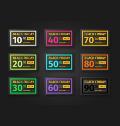 Black friday discounts templates vector