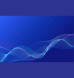 Blue smooth smoky wavy background vector