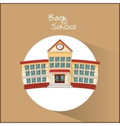 Building of back to school design vector