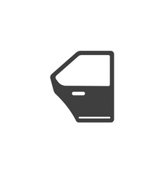 car door icon images vector image