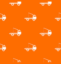 Car towing truck pattern seamless vector