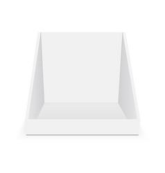 Cardboard pos display mock up vector