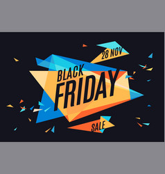 colorful banner with text black friday vector image