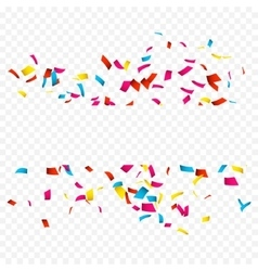 Colorful Confetti isolated on white Confetti vector image