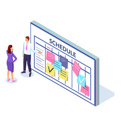 company business team working together planning vector image