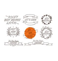 Cooking badges collection vector