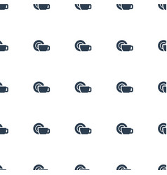 Dish icon pattern seamless white background vector