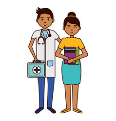 Doctor and teacher woman vector