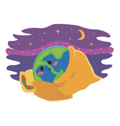 earth hour 30 march our planet sleeps on the vector image