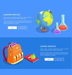 Educational process collection scientific objects vector