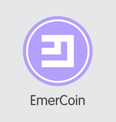 Emercoin virtual currency - trading sign vector