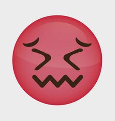 emoticon cartoon face icon vector image