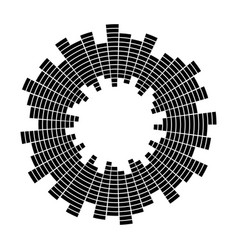 equalizer music sound wave circle symbol vector image