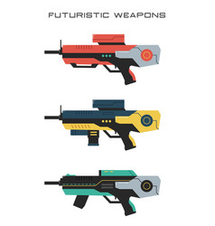 futuristic weapons - rifle vector image