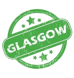 Glasgow green stamp vector image